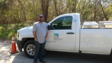 Greg Spillman with truck